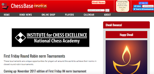 Get Your Updates On First Friday On Its Sub Domain On ChessBase India