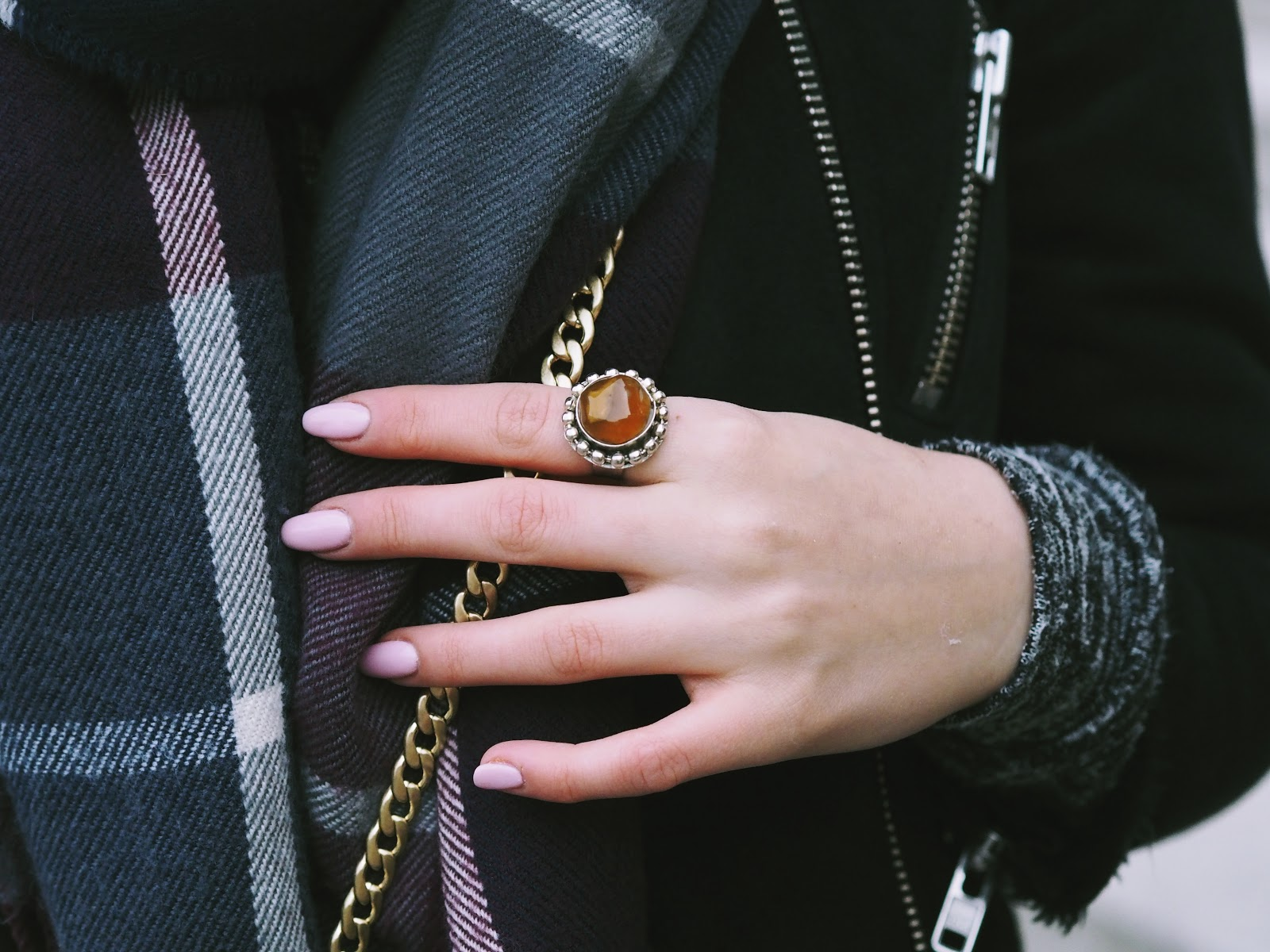 Hippie chic oversized ring