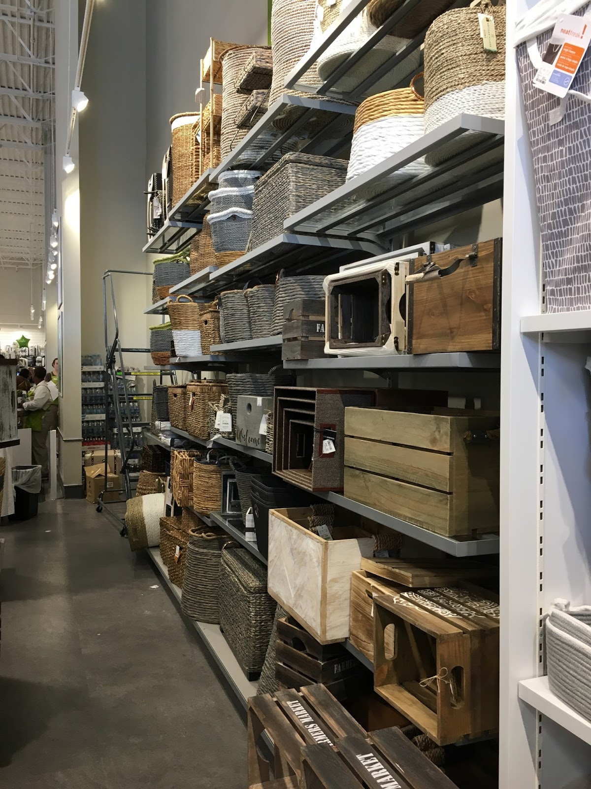 A peek inside a new homesense store calypso in the country storage and baskets at homesense geotapseo Choice Image