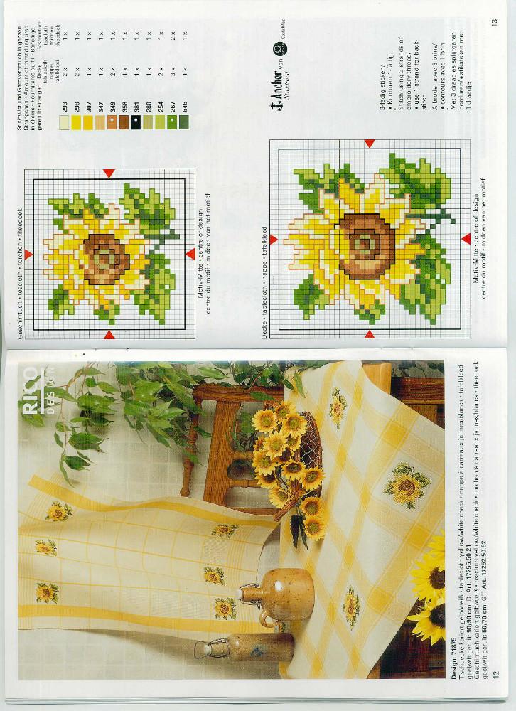 Grande raccolta di schemi e grafici per punto croce free disegni punto a croce per canovacci e - Disegni punto croce per tovaglie da tavola ...