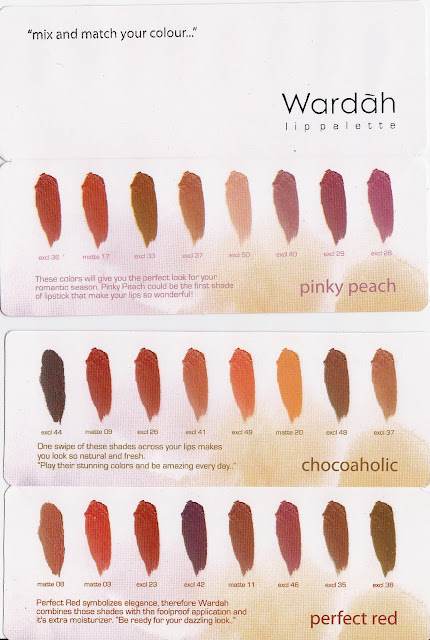 Produk Lip Pallete Wardah 2017 varian warna