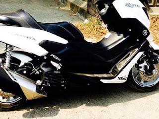 Modifikasi Yamaha Nmax Warna Putih Bikin Cewek Klepek Klepek
