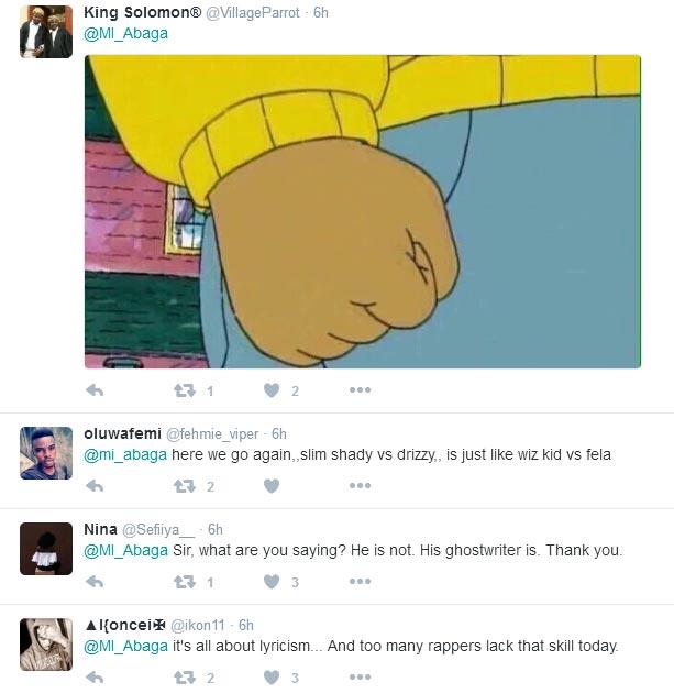 Nigerians roast MI Abaga for saying Drake is better than Eminem