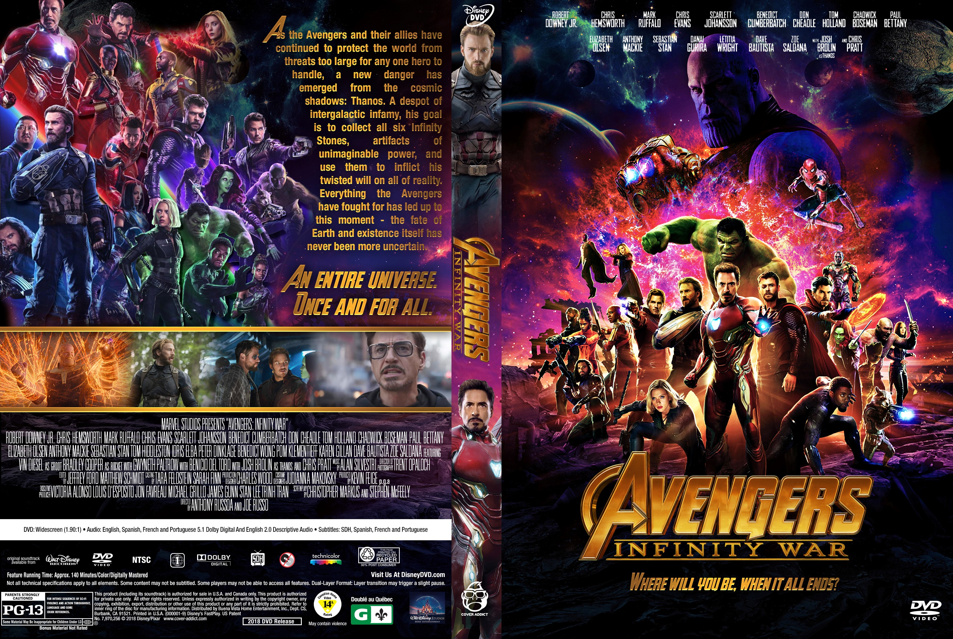 Avengers Infinity War Imdb >> Avengers: Infinity War DVD Cover - Cover Addict - DVD and Bluray Covers