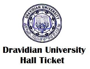Dravidian University Kuppam Hall Ticket 2017