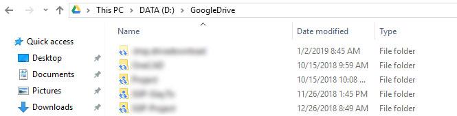 Bạn đã có một thư mục Google Drive trên máy