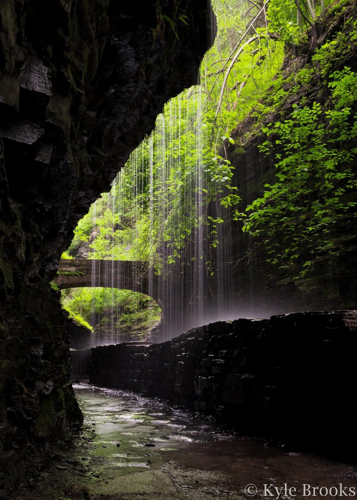 Behind Rainbow Falls Watkins Glen State Park