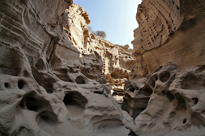 weird forms of the rocks in the Stars valley of Qeshm.