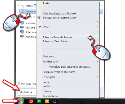 afixar a Calculadora do Windows