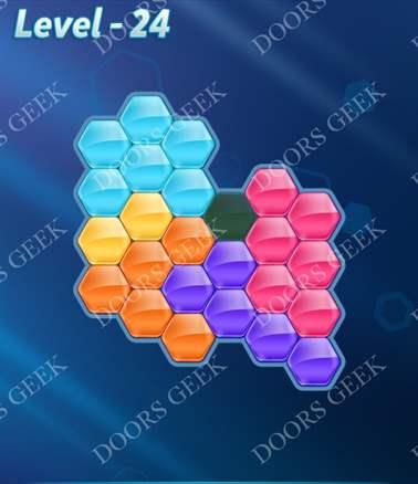 Block! Hexa Puzzle [6 Mania] Level 24 Solution, Cheats, Walkthrough for android, iphone, ipad, ipod