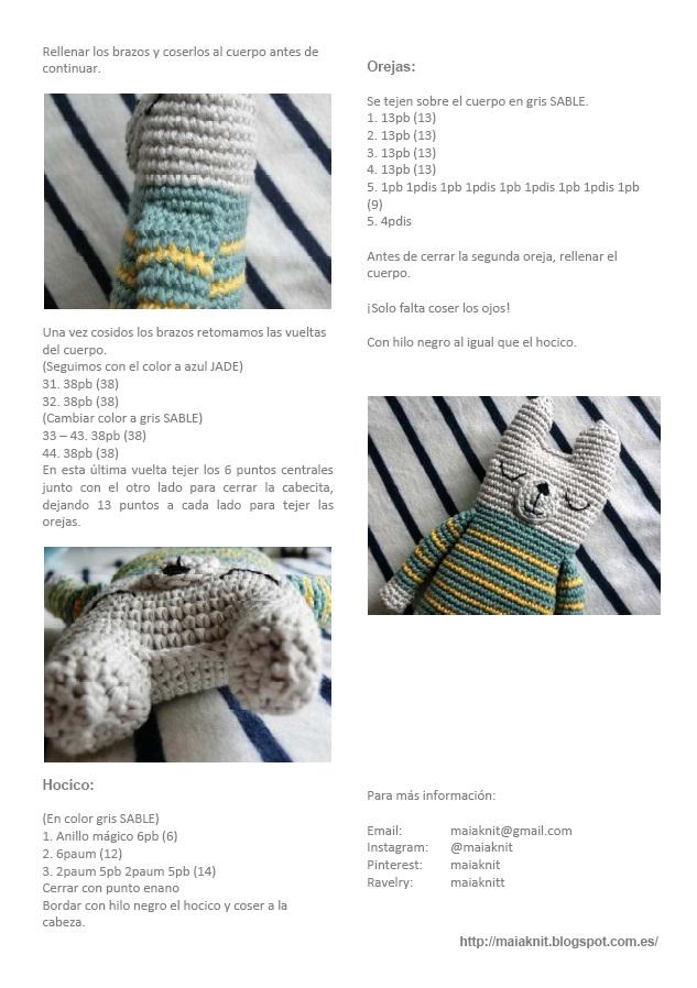 maia_knit: Osito amigurumi a rayas