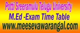 Acharya Nagarjuna University M.Ed Exam Time Table