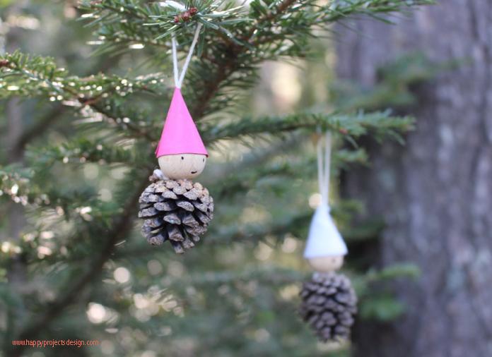 manualidades con piñas: decoraciones navideñas diy