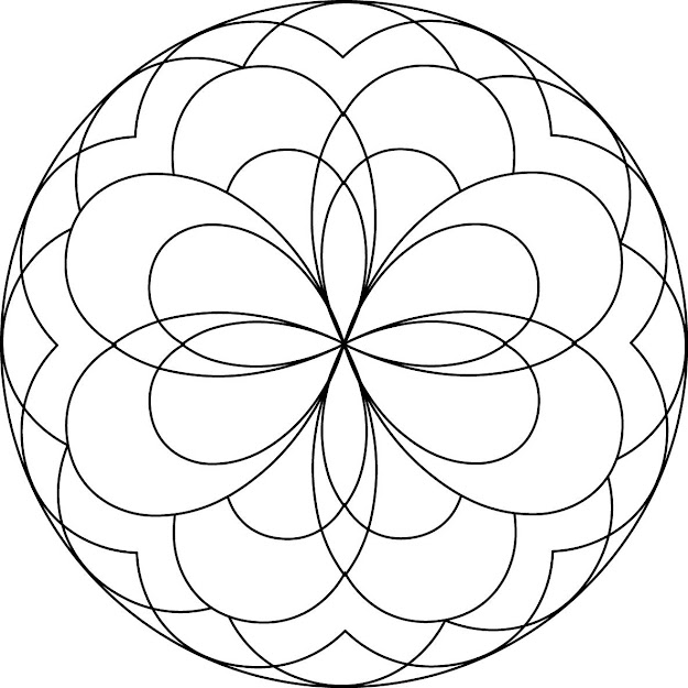 Mandala Coloring Pages For Preschoolers  Coloring Pages