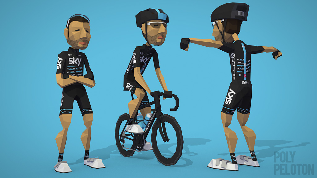Poly Peloton  2017 Kit   Team Sky 09ee895e6