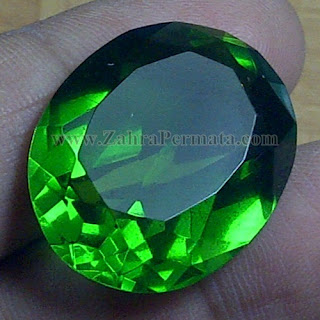 Batu Permata Green Tektite + Memo - ZP 964