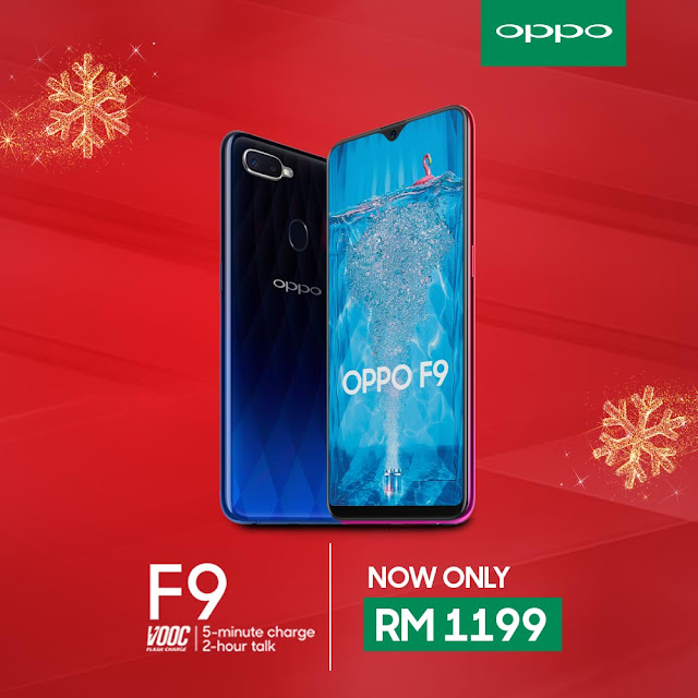 OPPO F9 is now only RM 1199