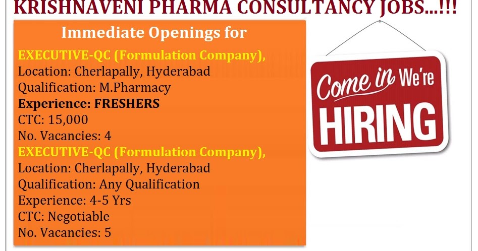 Immediate Openings for Freshers & Experienced Candidates