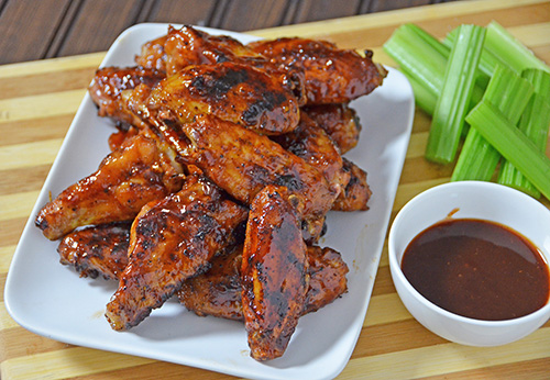 BBQ smoked wings with Big Moe Cason's Chicken Rub