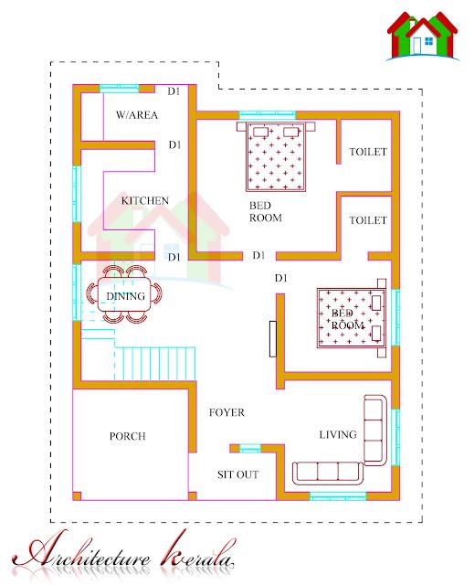 Kerala Home Design And Floor Plans: 1500 Square Feet Kerala House Plan