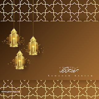 Ramadan kareem Greetings Ramadan lanterns  calligraphy