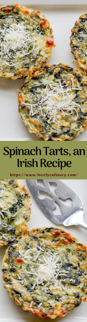Spinach Tarts, an Irish Recipe #healthy #recipe