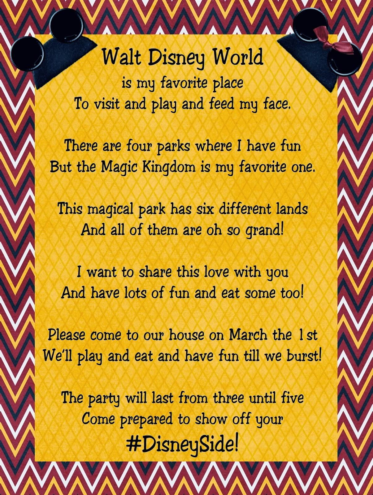Disney World Surprise Trip Poem
