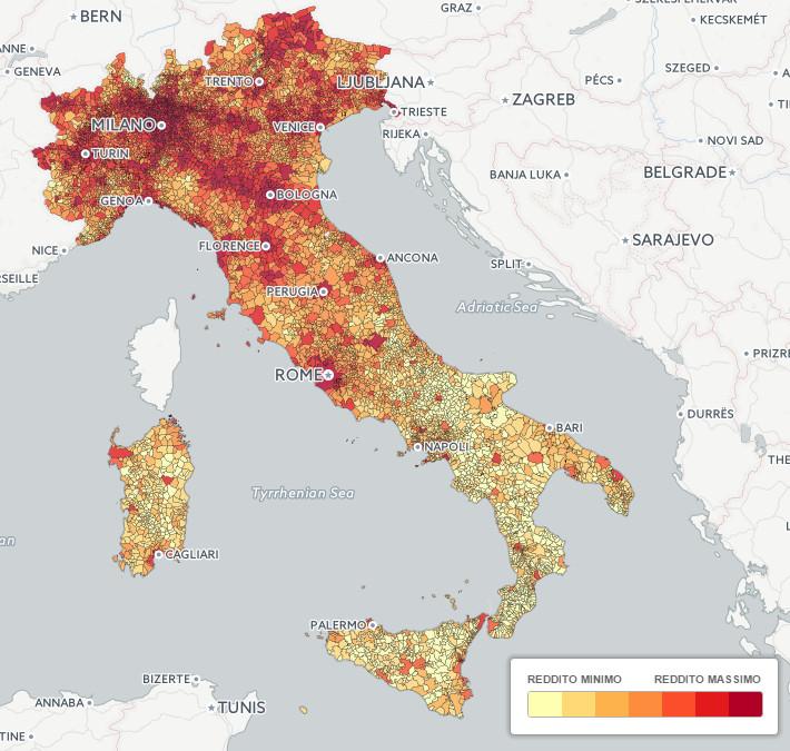 Per Capita Income of Italian Citizens