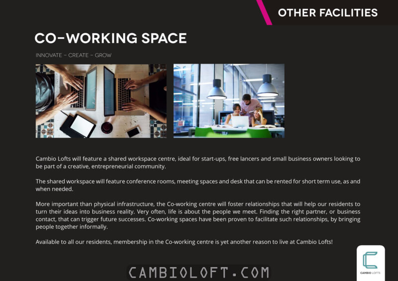 Co-Working Space @ Cambio Lofts Alam Sutera