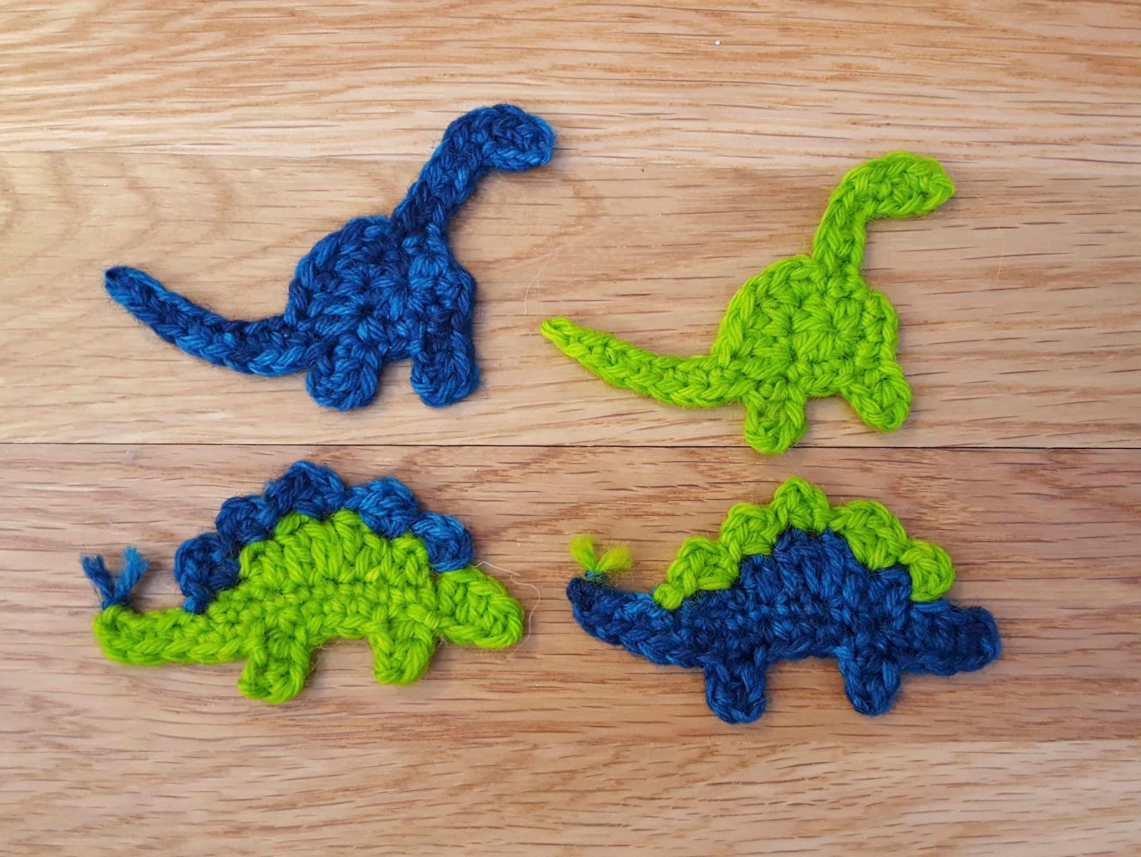 Chemknits Crochet Dinosaur Appliques For Party Hats