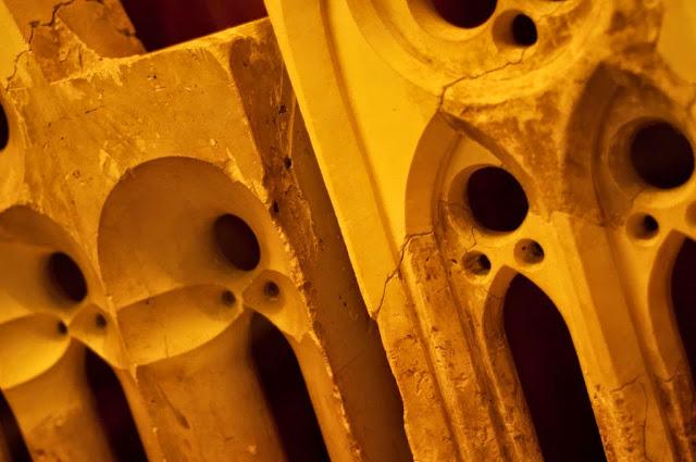 Moldes de Gaudí de La Sagrada Familia