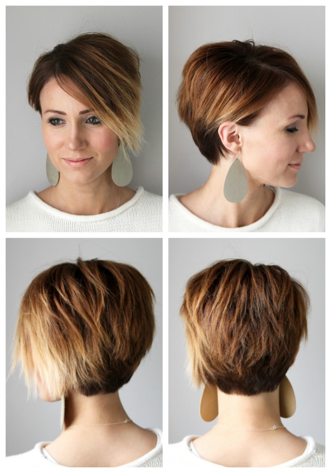 Short Hair Tutorial Styling A Long Pixie For Every Day One Little