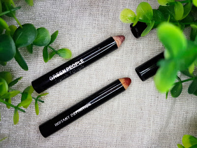 Green People Instant Definition Lip Crayons in Blossom (top) and Sangria (bottom)