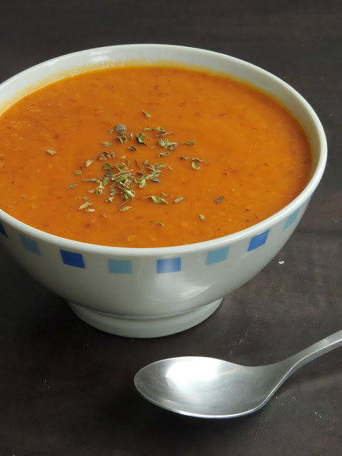 Vegan Moongdal Tomato Soup