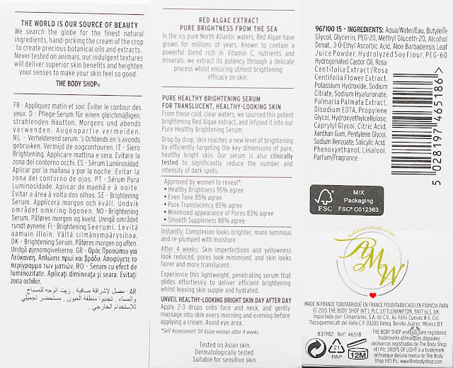 a photo of The Body Shop Drops Of Light™ Pure Healthy Brightening Serum