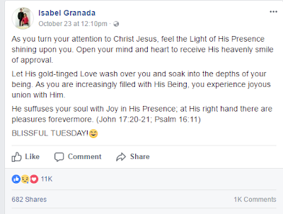 Isabel Granada's Premonition of Her Death
