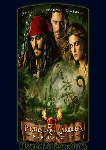 Poster Of Pirates of the Caribbean 2 (2006) Full Movie Hindi Dubbed Free Download Watch Online At worldfree4u.com