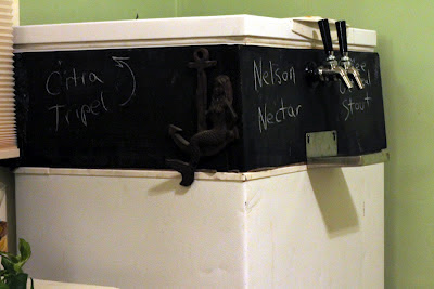 Chalkboard Kegerator, sorry for my poor handwriting.