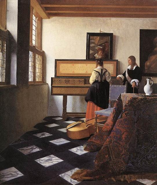 Johannes Vermeer - La lección de música - 1662-66