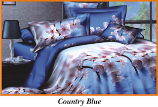 Sprei & BedCover Impression - Country Blue