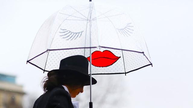 ombrelli trasparenti ironici outfit da pioggia cosa indossare quando piove come vestirsi quando piove rainy day outfit tendenze autunno 2016 moda fashion blog di moda italiani blogger italiane di moda