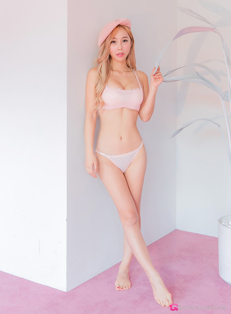 5 Lee Ji Na - Pink - very cute asian girl-girlcute4u.blogspot.com