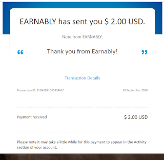 Earnably.com Payment Proof photo