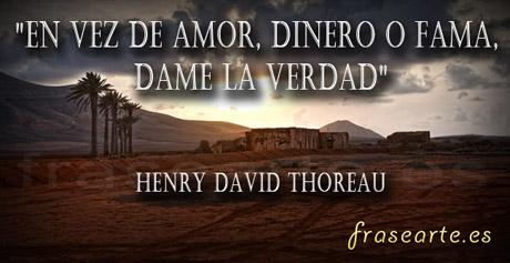 Citas sobre la verdad - Henry David Thoreau