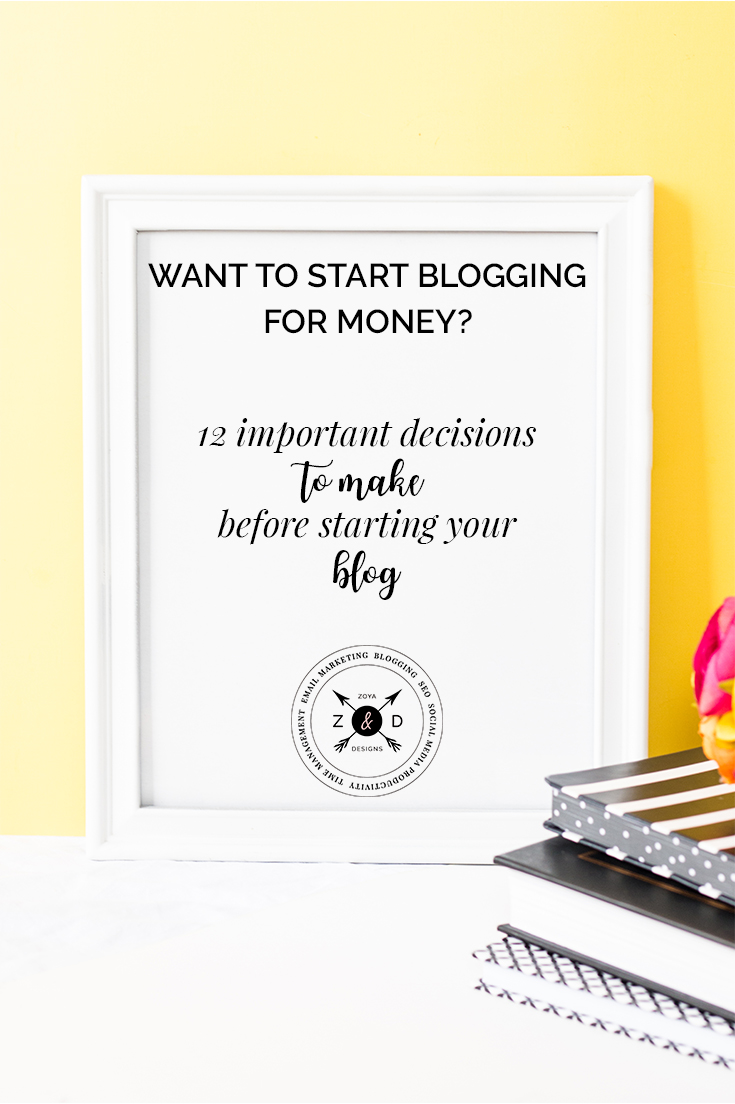 12 important decisions to help you get started with blogging