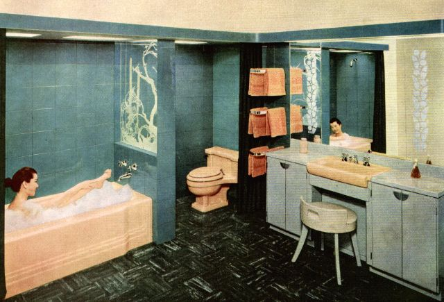 24 Cool Pics That Show Bathrooms In The 1950s Vintage Everyday