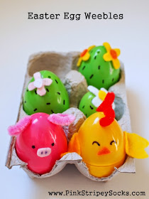 Make farm animal and cacti Easter Egg Weebles