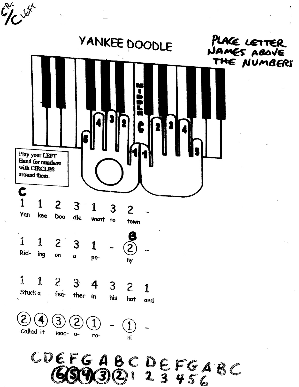 Miss Jacobson U0026 39 S Music  Easy Keyboard  1  Melody Songs By
