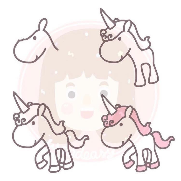 gambar unicorn yang gampang  koleksi gambar hd