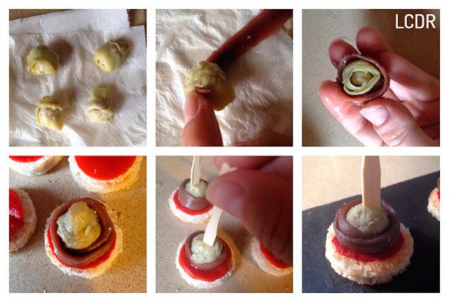 Receta de canapé de alcachofa con anchoa 02